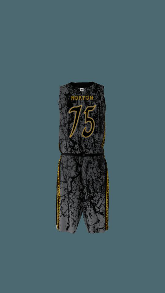 Spartans Custom Dye Sublimated Basketball Uniform