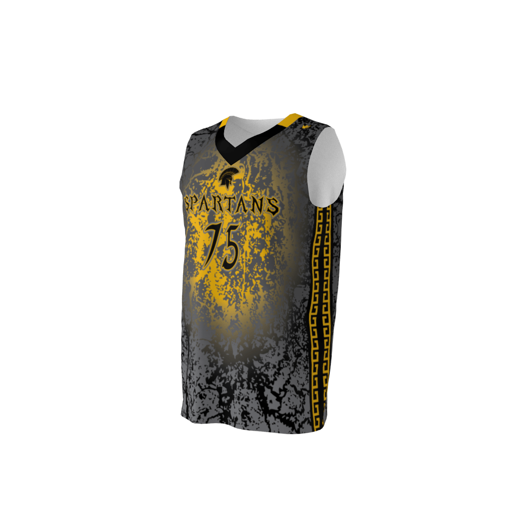 595bf026ac5 Spartans Custom Dye Sublimated Basketball Uniform