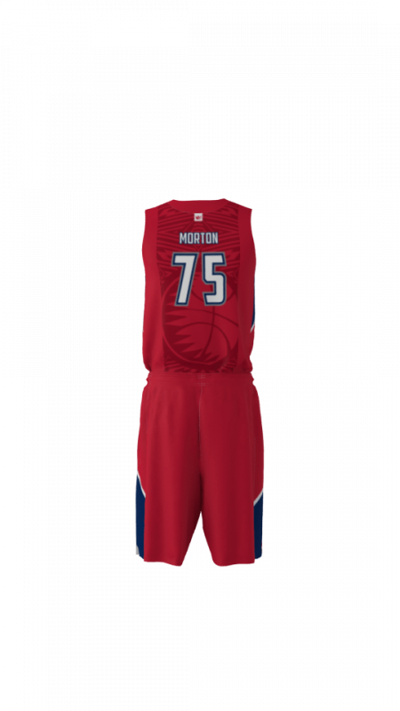 State Custom Dye Sublimated Basketball Uniform