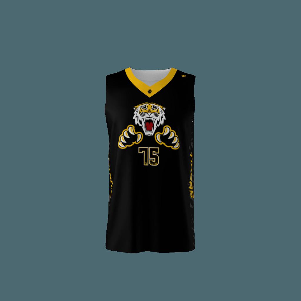 347421981 Tigers Custom Dye Sublimated Basketball Uniform
