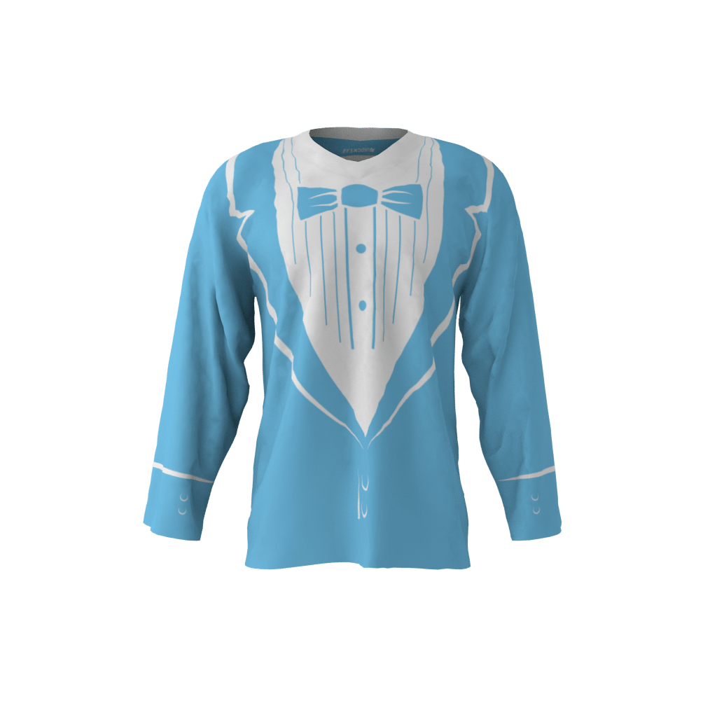 Tuxedo Sky Blue Jersey Sublimation Kings