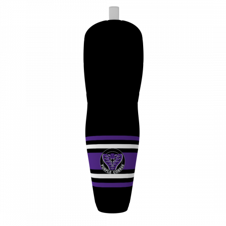purple cobras custom ice hockey socks