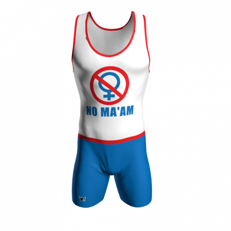 no ma'am custom wrestling singlet