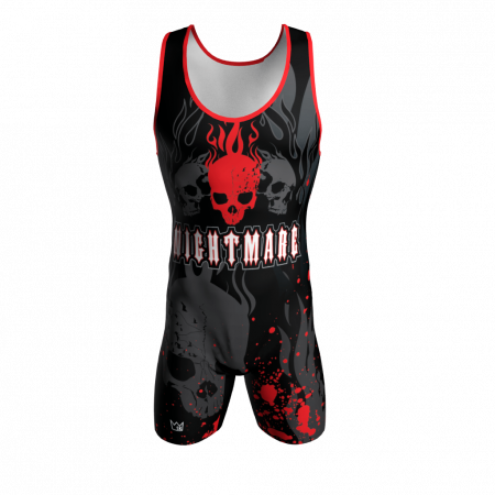 nightmare custom wrestling singlet