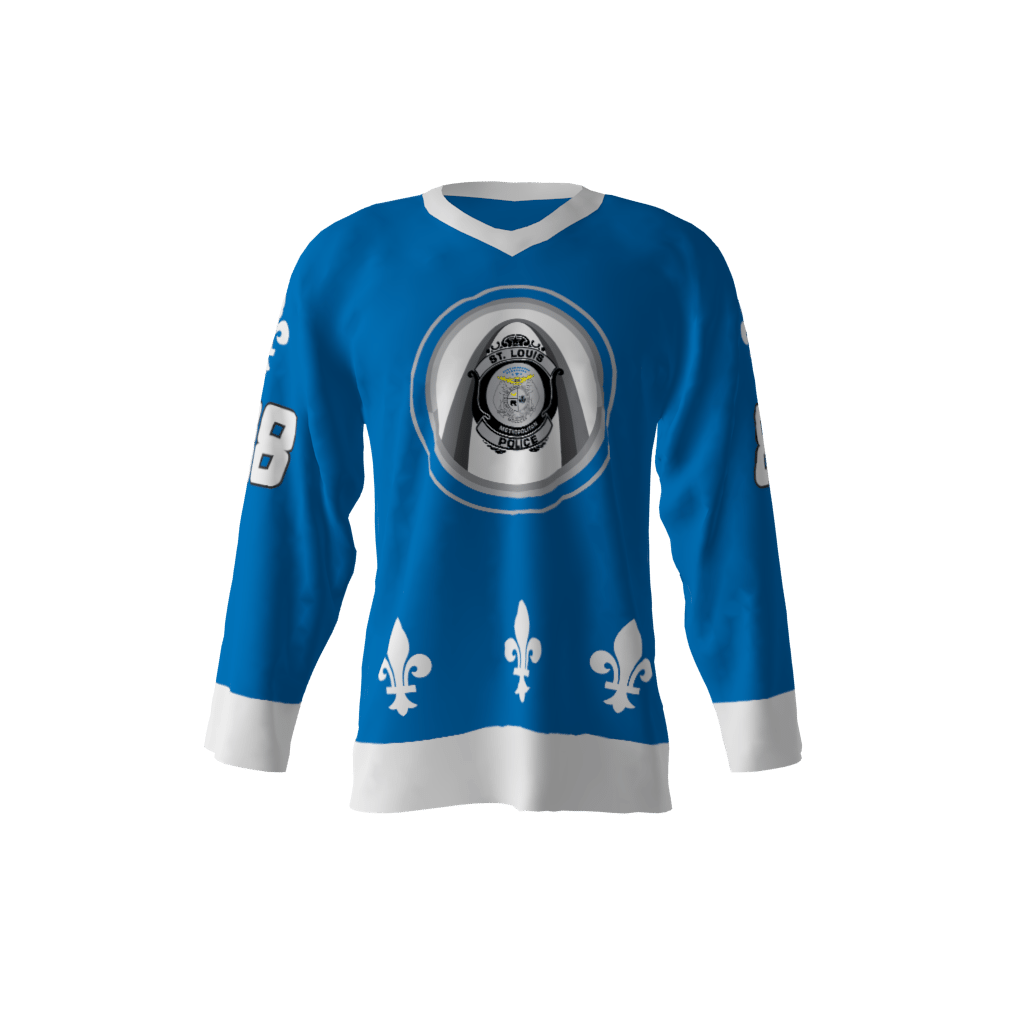 St Louis Blue Police Jersey Sublimation Kings