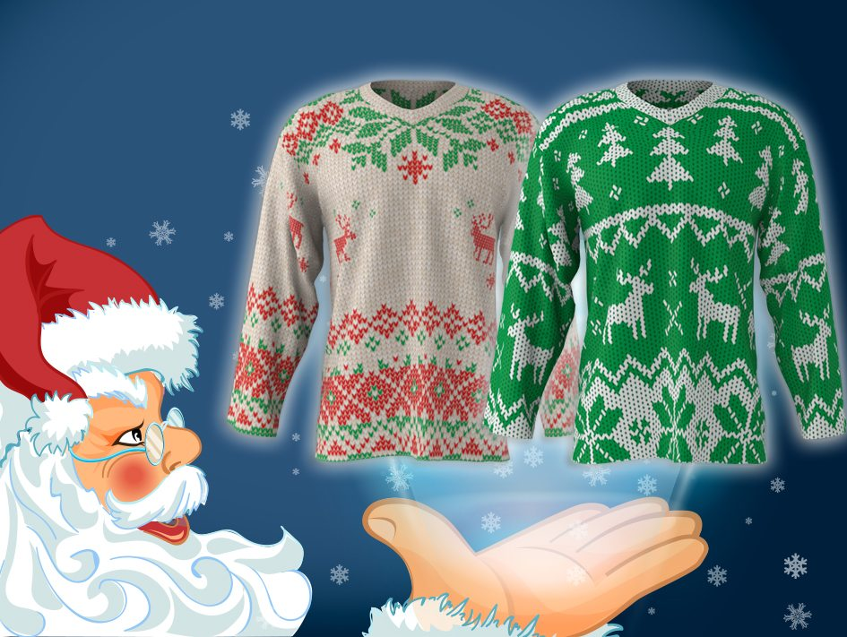 Christmas Jersey Design.Design Your Own Ugly Christmas Hockey Jersey Sublimation Kings