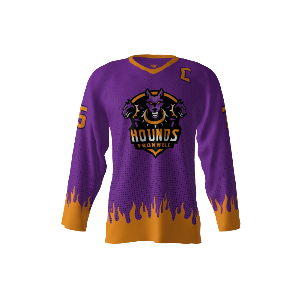 5f828d41956 Hounds From Hell Purple Jersey – Sublimation Kings